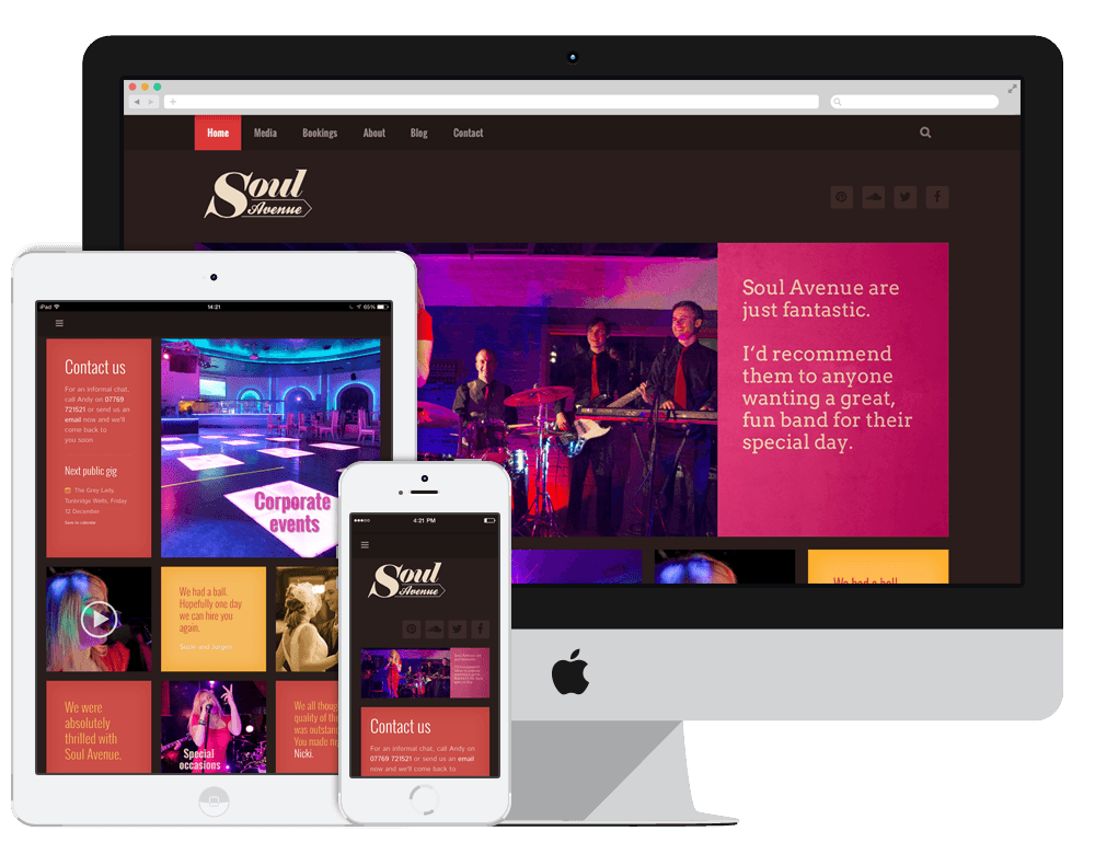Portfolio: Soul Avenue website